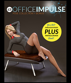 i13 Office IMPULSE Organized Pose Collection 3D Figure Assets 3D Models ironman13