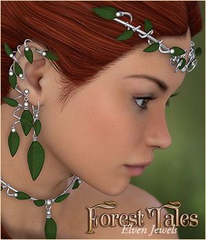 Forest Tales - Elven Jewels 3D Figure Assets P3D-Art