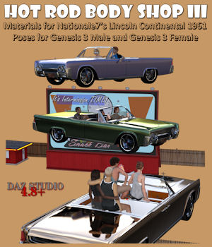 Hot Rod Body Shop Series 3 for Nationale7 Lincoln Continental 1961, G3M and G3F 3D Figure Essentials 3D Models freeone1