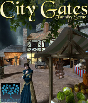 City Gates 3D Models BlueTreeStudio