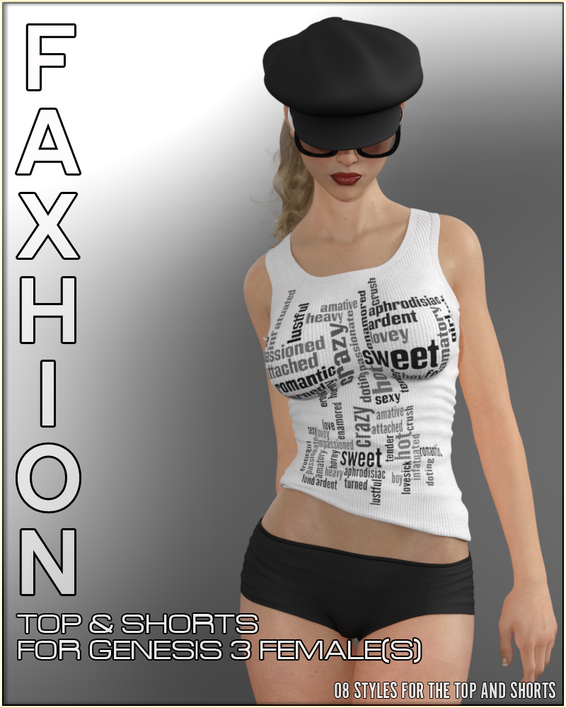 Faxhion - Top & Shorts for Genesis 3 Female(s) by vyktohria