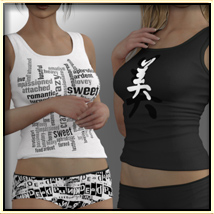 Faxhion - Top & Shorts for Genesis 3 Female(s) image 1