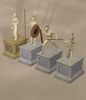 GRECO-ROMAN SET2 3D Models Nationale7