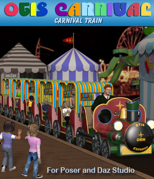 Otis Carnival Fun Fair Train 3D Models Simon-3D