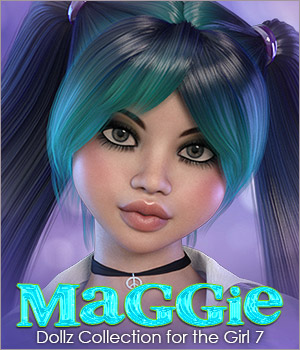 Dollz: Maggie for Girl 7 and Genesis 3 3D Figure Assets 3DSublimeProductions