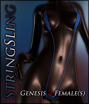 StringSling for Genesis 2 Females 3D Figure Assets Quanto