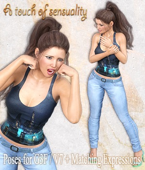 A Touch of Sensuality- Poses and Expressions for G3F/ V7 3D Figure Essentials vanda51
