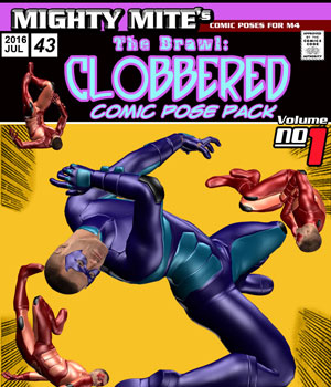 The Brawl: Clobbered v01: By MightyMite for M4 3D Figure Essentials MightyMite