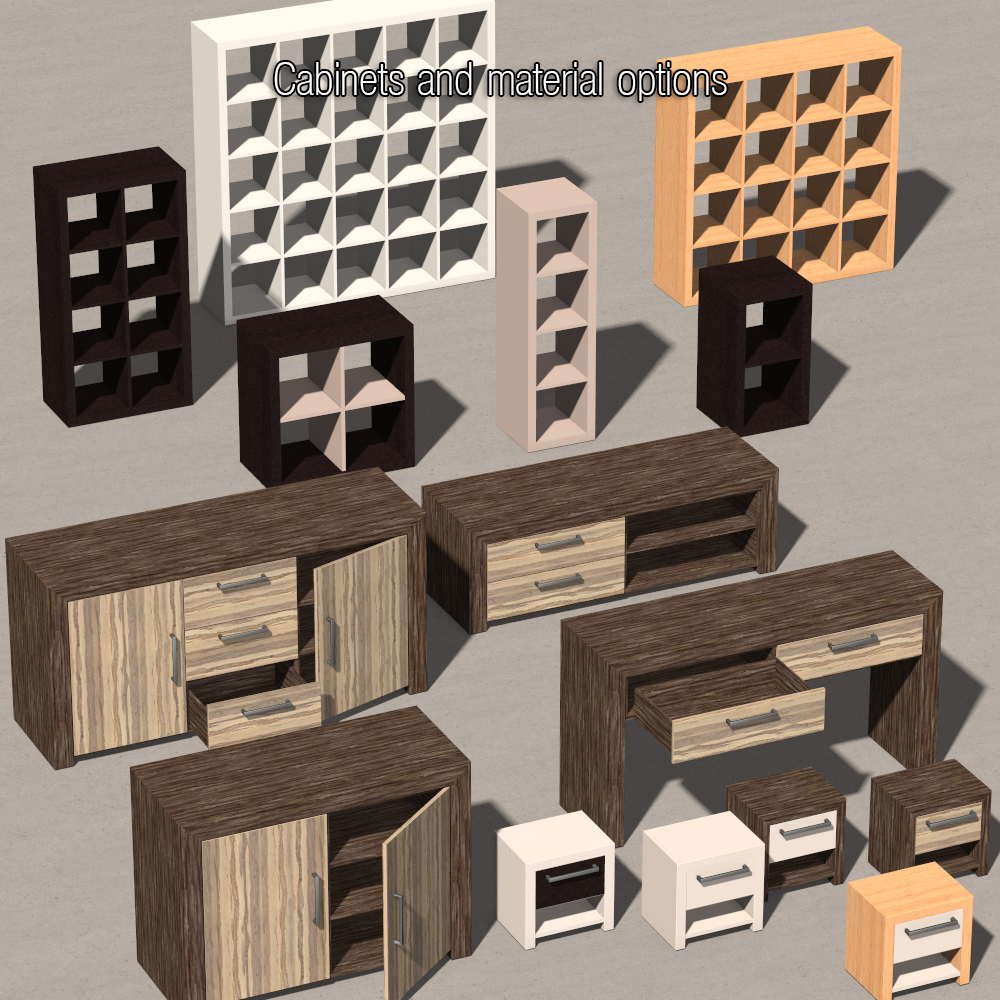 Everyday Items, Furniture Collection 1 3D Models 2nd_World