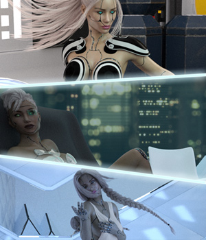 SciFi Babes - Head and Body Morphs for G3F 3D Figure Essentials Anagord