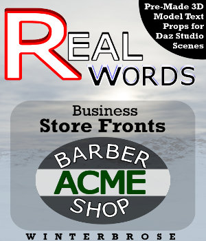 REAL-WORDS: Business Storefronts for Daz Studio 3D Models Winterbrose