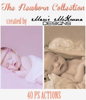 PS Actions - The Newborn Collection 2D Graphics MarieMcKennaDesigns