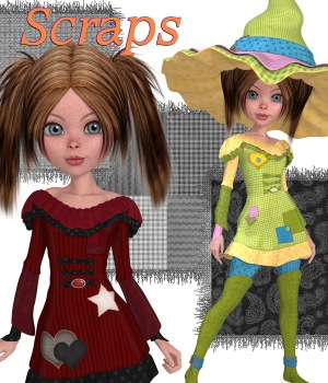 Scraps for Mavka Witchy Poo 3D Figure Essentials JudibugDesigns