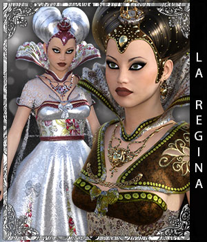La Regina for Queen of Hearts 3D Figure Assets sandra_bonello