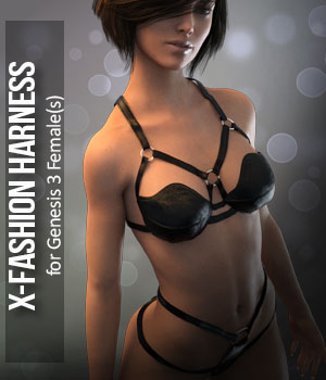 Fashion Harness for G3F 3D Figure Essentials xtrart-3d