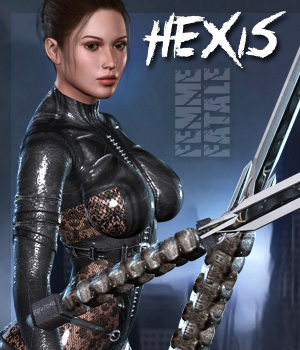 Hexis - Femme Fatale 3D Figure Essentials Darkworld