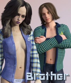 Brother for Man Shirt by Exnem 3D Figure Essentials chasmata