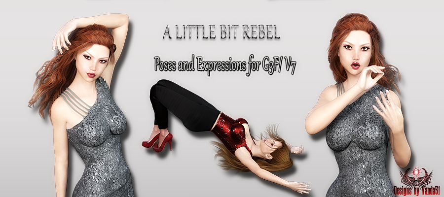 A little bit rebel- Poses and Expressions for G3F / V7