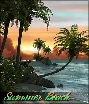 Summer Beach 2D Graphics Sveva