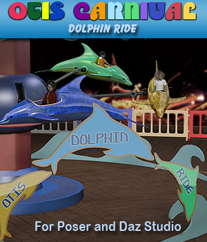 Otis Carnival Fun Fair Dolphin Ride 3D Models Simon-3D