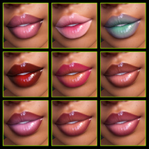 Iray Lipgloss and Lipcolors for Genesis 3 Female(s) image 6