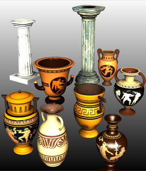 GRECO-ROMAN SET1 3D Models Nationale7