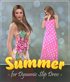 Summer for Dynamic Slip Dress 3D Figure Assets Frequency