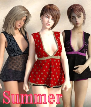 Summer for Flowy Cheer Top by outoftouch 3D Figure Assets chasmata