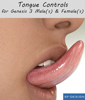 Tongue Controls for Genesis 3 Males and Females 3D Figure Assets SF-Design