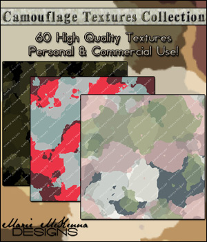 Camouflage Textures Collection 2D Graphics Merchant Resources MarieMcKennaDesigns