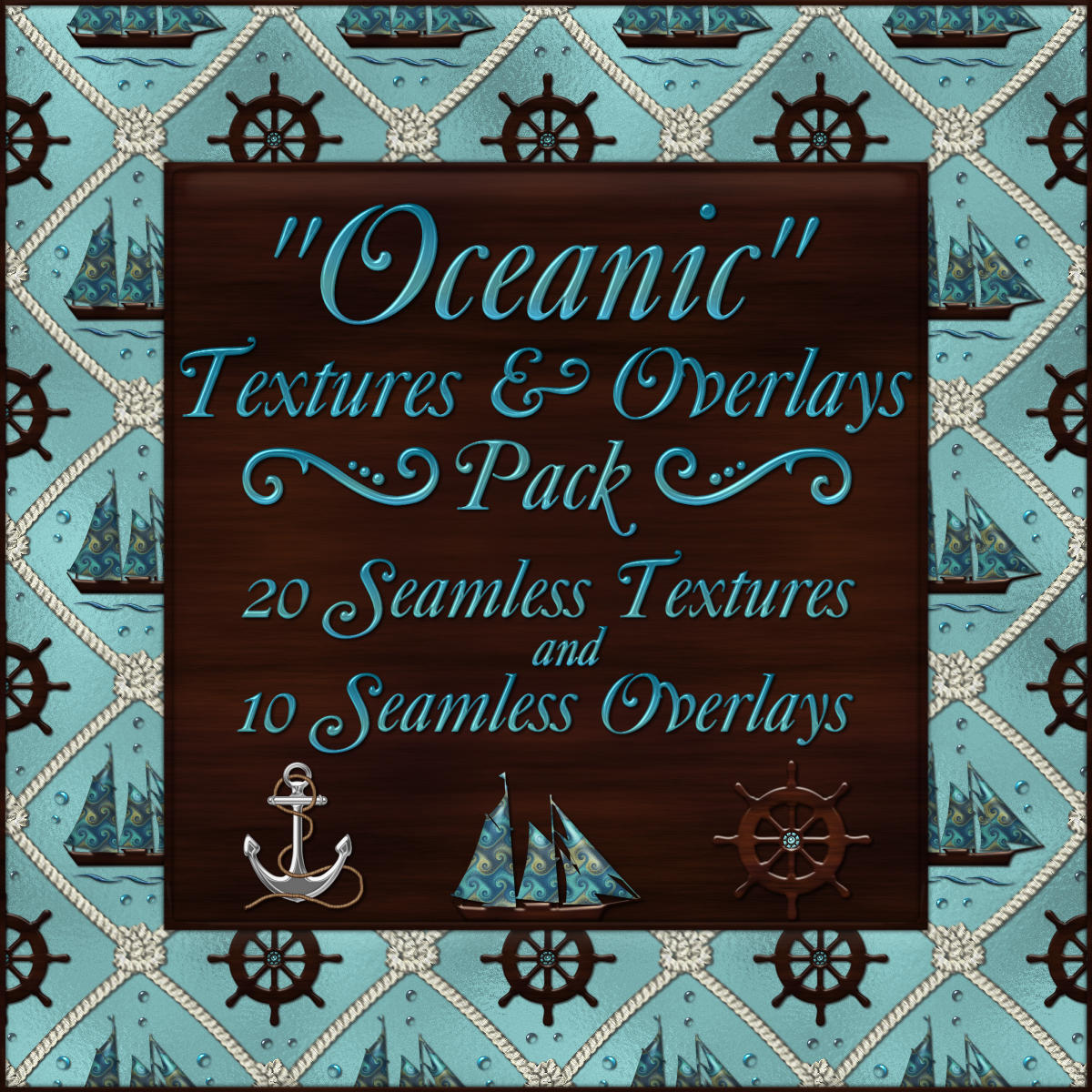Oceanic Seamless Textures and Overlays Pack