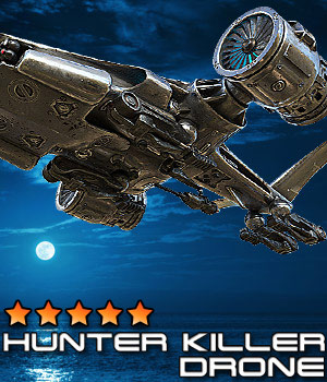 Hunter-Killer Drone 3D Models Cybertenko