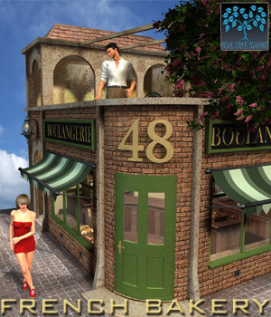 French Bakery 3D Models BlueTreeStudio