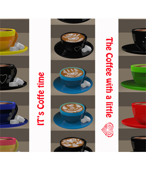 Coffee Cup Colors 3D Figure Essentials FLDesign