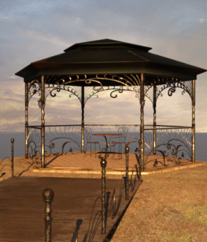 Old Gazebo for Daz Studio Iray 3D Models TMDesign