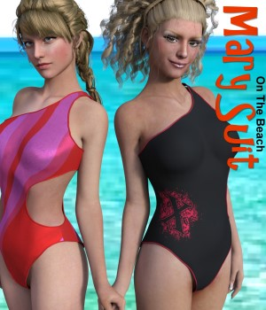 On The Beach - Mary Suit for Genesis3Female 3D Figure Essentials chasmata