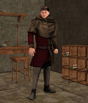 Scribe (M4) (for Poser) 3D Figure Assets VanishingPoint