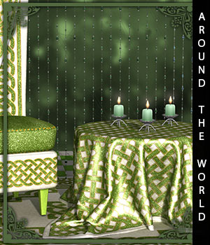 Around The World for Rugs and Blankets 3D Figure Assets sandra_bonello
