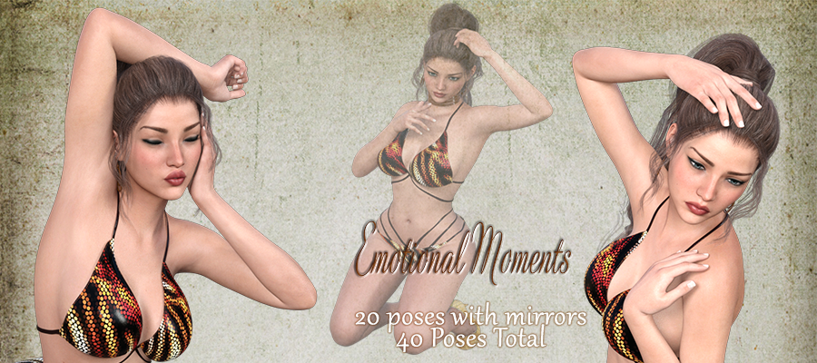 Emotional Moments Poses and Expressions for G3F/V7