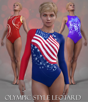 Olympic Style Leotard for G3F 3D Figure Essentials RPublishing