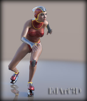Athletic Futuristica for G3F - Rocket_Roller Derby AddOn 3D Figure Essentials EdArt3D