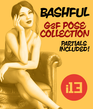 i13 BASHFUL pose collection for the Genesis 3 Female(s) by ironman13