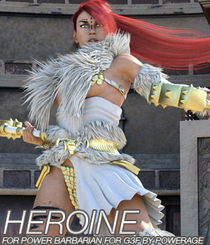 HEROINE - Power Barbarian for G3 female(s) 3D Figure Essentials Anagord