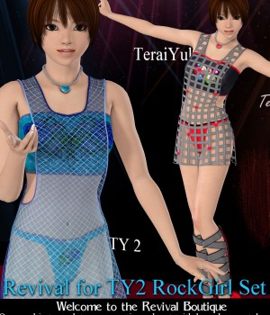 Revival for TY2 RockGirl Set 3D Figure Assets JudibugDesigns