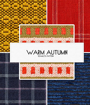 Warm autumn :: Seamless Pattern 2D Merchant Resources Cyrax3D