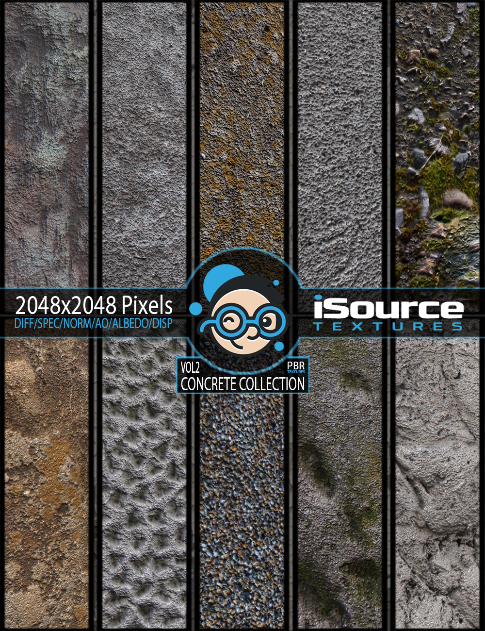 Concrete Collection - Vol2 (PBR Textures)