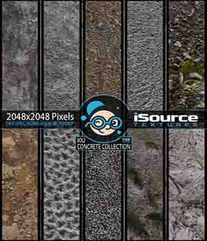 Concrete Collection - Vol2 (PBR Textures) 2D Graphics KobaAlexander