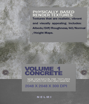 Concrete Collection Vol 1 - PBR Textures 2D Graphics nelmi