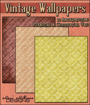Vintage Wallpapers 2D Graphics Merchant Resources MarieMcKennaDesigns
