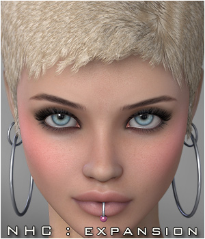 NHC Expansion : Shorty Hair 3D Figure Assets P3D-Art